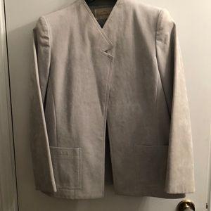 VTG Abe Schrader Grey Suede Jacket size 10